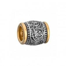 Серебряная бусина «Акант»