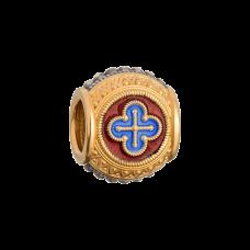 Позолота горячая эмаль бусина «Вера»