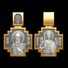 Медальон с ликом святого праведника Кирилла