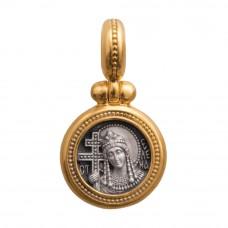 Серебряная иконка «Святая Равноапостольная царица Елена»